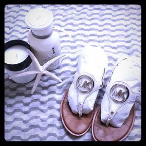 M/K White Sandals